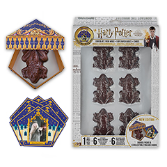 CR4016-Chocolate Frog Mold + 6 papers box + 6 Wizard Cards - Harry Potter