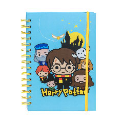 CR5306-Spiral Notebook - PU Leather Notebook - Harry Potter Kawaii