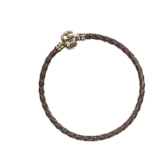 EFB0031-Fantastic Beasts Brown Leather Charm Bracelet