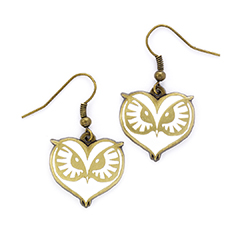EFE0008-Owl Face Earrings