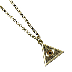 EFN0004-Triangle Eye Necklace