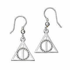EHPSE002-Deathly Hallows Earrings with Swarovski crystals