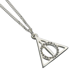 EHPSN002-Deathly Hallows Necklace with Swarovski crystals