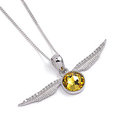 EHPSN004-Golden Snitch Necklace with Swarovski crystals