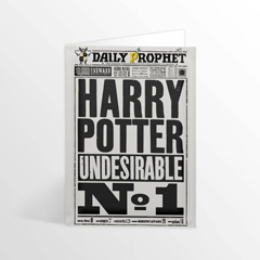IHPCARD11-Daily Prophet - Harry Potter Undesirable  No.1 - Greetings card