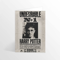 IHPCARD15L-Harry Potter - Ministry Undesirable No.1? Lenticular greetings card
