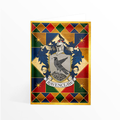 IHPCARD36-Ravenclaw Crest Foiled Notecard