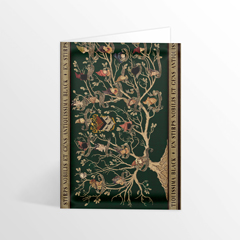 IHPCARD40-Black Family Tapestry Foiled Notecard