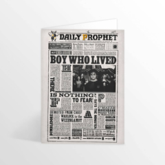 IHPCARD47L-The Daily Prophet - Boy Who Lived Lenticular Notecard