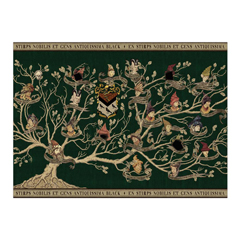IHPP23F-Black Family Tapestry Poster