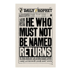 IHPT09-The Daily Prophet - He Who Must Not Be Named Returns Tea Towel